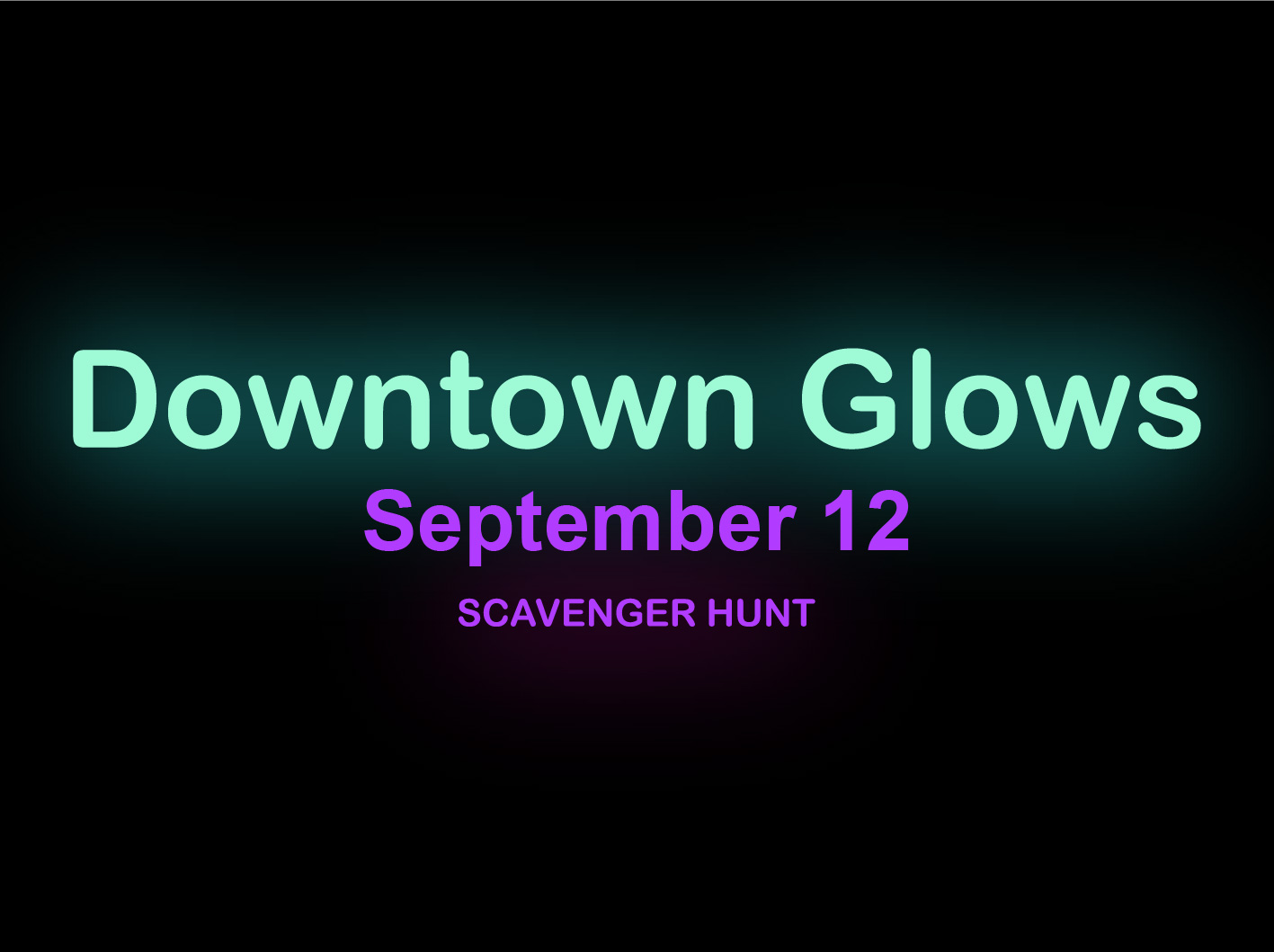 Downtown Glows event scavenger hunt