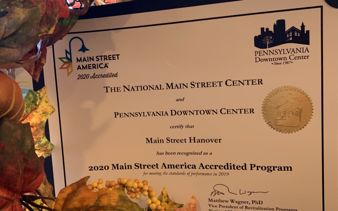Main Street Hanover National Accreditation