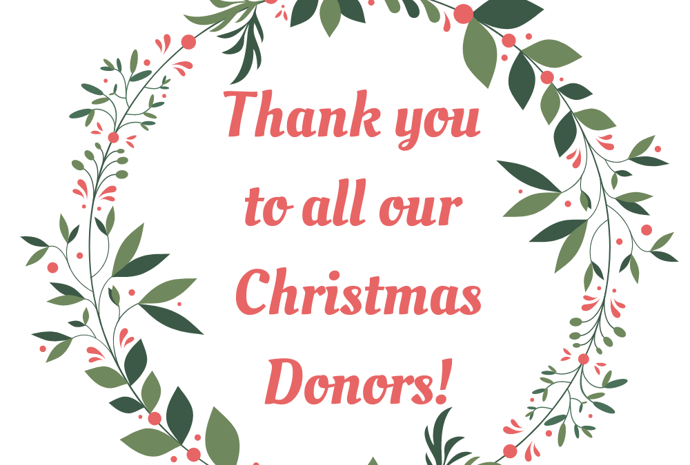 Thank you Christmas Donors!